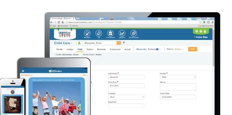 Child Care Management Software Features