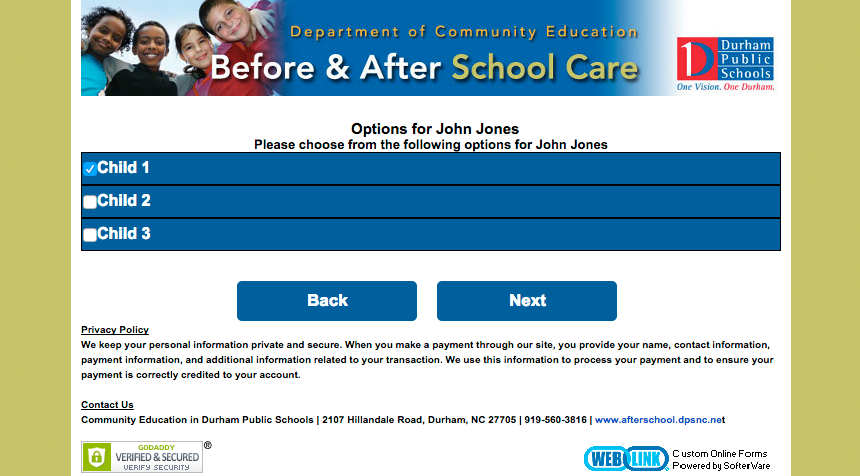 Sample Ezcare Online Childcare Forms