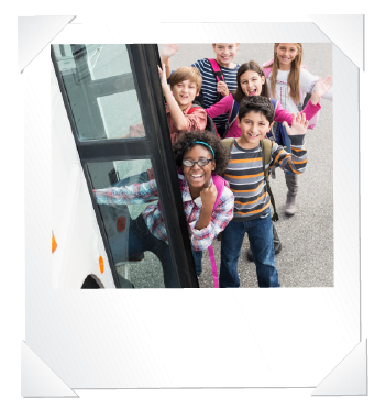 children going on a bus trip