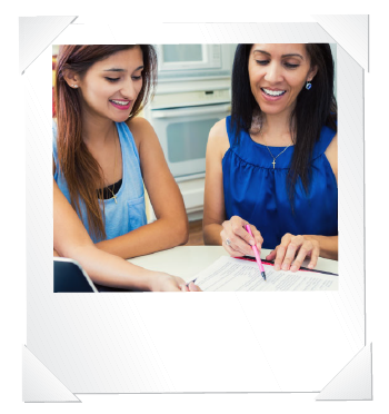 two women filling out a childcare business application
