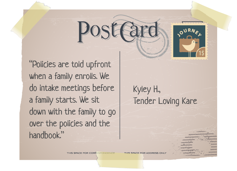 quote on a postcard