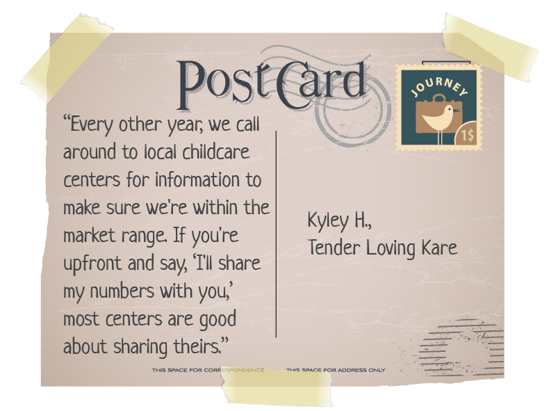 quote from Kyley on postcard