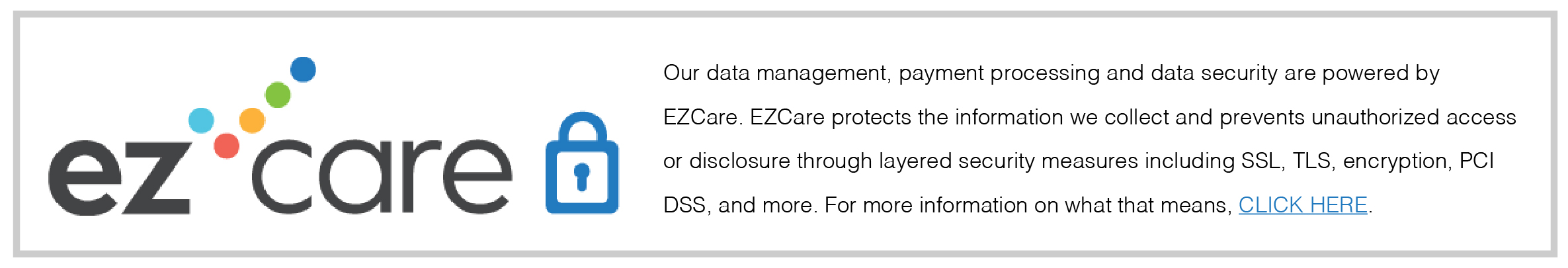 EZCare Childcare Software Security Logo