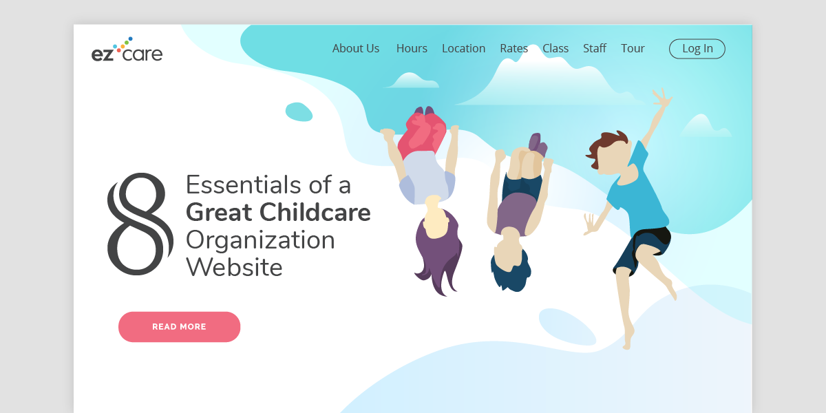 Childcare organization website ezcare